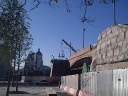 20.10.2018 Немцов мост. Ремонт. С другой стороны моста. Подъёмный кран