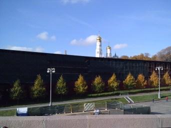 20.10.2018 Утреннее дежурство на мосту Немцова Солнце