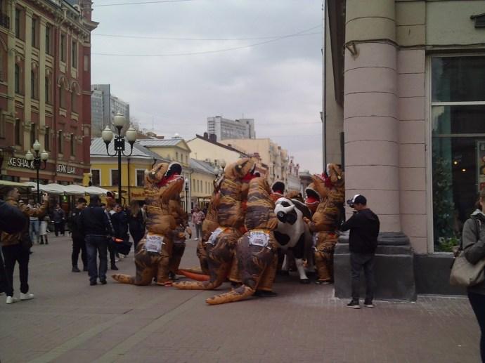 """20.04.2019 Пикет """"всех на всех"""" Динозавры напли на корову"""