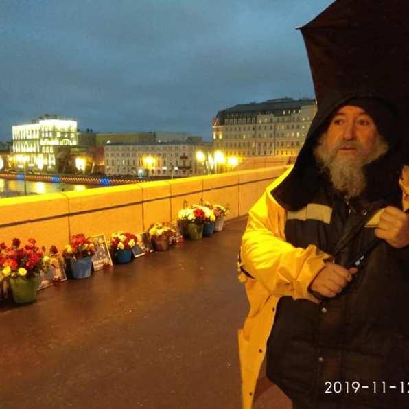 Немцов мост, ночное дежурство