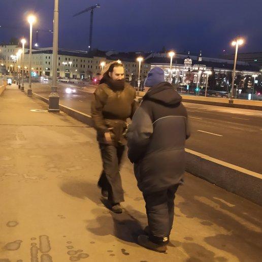 14.03.2020 Немцов мост. Ночное дежурство Тимофей и Павел