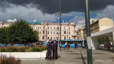 01.08.2020 Триумфальная площадь. Полиция-полиция-полиция....
