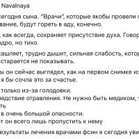 L.Navalnaya: «Результаты лечения врачами ФСИН я увидела»