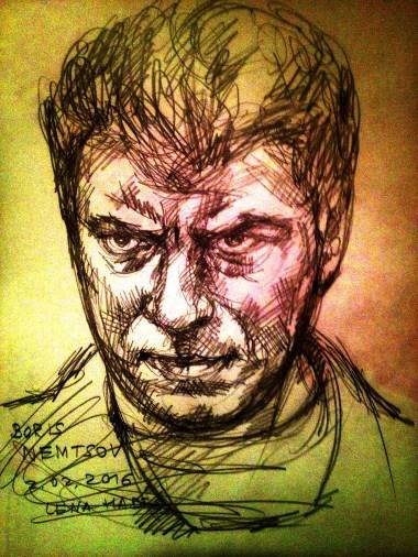 Boris Nemtsov by Lena Hades