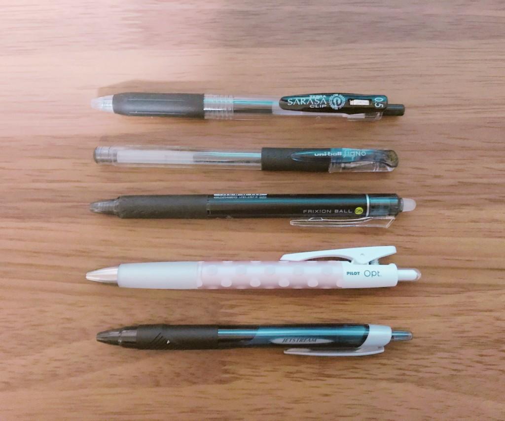 手持ちのボールペン