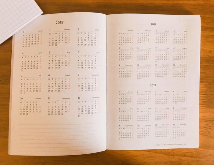EDiT月間ノート年間カレンダー