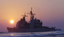 A Vella Gulf amerikai cirkáló befutott a Fekete-tengerre