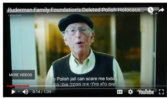 Provokatív amerikai zsidó alapítvány gyorsan visszavonta lengyelgúnyoló videóját
