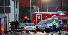 Csaknem hatvanan sérültek meg a Németországban történt tömeges gázolásban