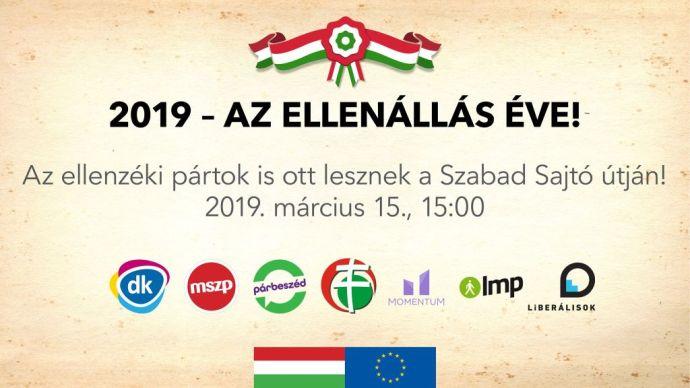 Egy időben, egymás mellett lesz 15-én az összekovácsolódott ballib és a nemzeti összefogás nagygyűlése