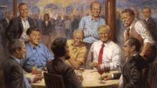Érdekes Trump-festmény lóg a Fehér Ház falán