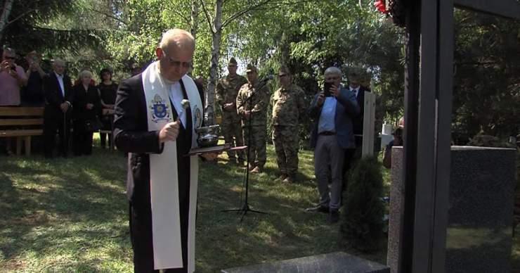 Magyar katonai emlékhelyet avattak Kriványban