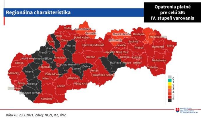 """Húszra nőtt a """"fekete járások"""" száma Szlovákiában"""