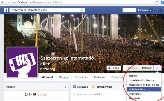Felhívás: Lőjük le a balosok Facebook-oldalait!