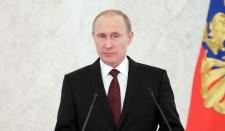 Putyin több mint egyezer ember jelenlétében lép fel elnöki üzenetével