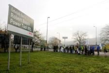 Tüntettek a Bosch miskolci gyárainál