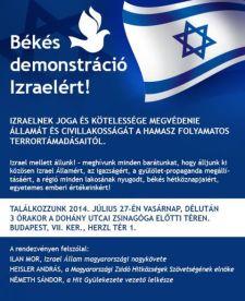 Nyílt provokáció: a gyerekgyilkos terroristák mellett tüntetnek a zsidók vasárnap – a Hitgyülivel karöltve