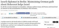 Egy izraeli diplomata végre beismerte: arra jó a szüntelen holokausztozás, hogy az ez által életben tartott bűntudat segítse Izraelt céljai elérésében