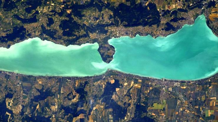 Lélegzetelállítóan fest az űrből a Balaton – képek