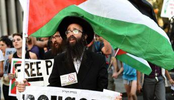 Ortodox zsidók is tüntettek Izrael ellen