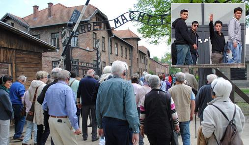 Zseniális ötlet: attól lesz a migránsintegráció sikeres, hogy zsidók és muszlimok együtt szidják a németeket Auschwitzban