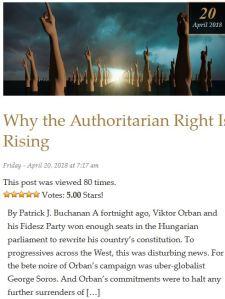 Patrick Buchanan Orbán és Soros harcáról