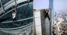 VIDEÓ: Lezuhant egy 62 emeletes házról és meghalt az egyik ismert kínai falmászó