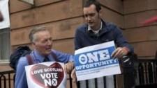 Skót népszavazás – A függetlenségellenes tábor győzelmét valószínűsítik