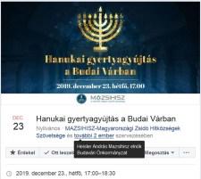 Újabb és újabb magasságokban a zsidó reneszánsz: már a Várban hanukáznak