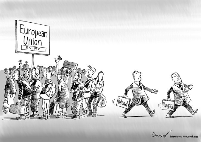 Nemzetközi karikatúra lett hazánkból