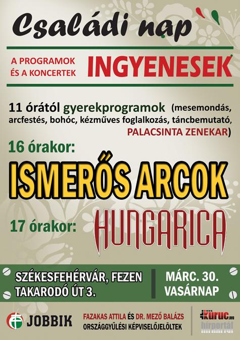 Családi nap ingyenes koncertekkel Székesfehérváron