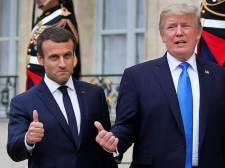 Donald Trump több Twitter-bejegyzésben tette nevetségessé a francia államfőt