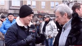 Vagány brit aktivista fasisztázó német közszolgálati újságírócselédeket szégyenít meg