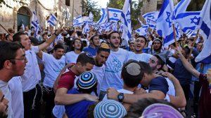 A zsidó szélsőségesek felvonultak a megszállt Jeruzsálemben