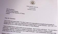 Szíriai invázió: Trump keményen  megfenyegette Törökországot Erdogannak írt levélében