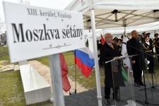 Újra Moszkva nevét viseli egy közterület a fővárosban