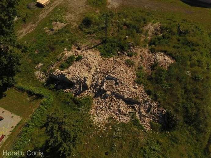 Összeomlott a Bay-kastély az erdélyi Ördögkúton
