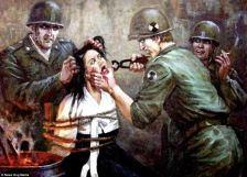 Észak-koreai festménytárlat: amerikai katonák így kínoztak észak-koreaiakat
