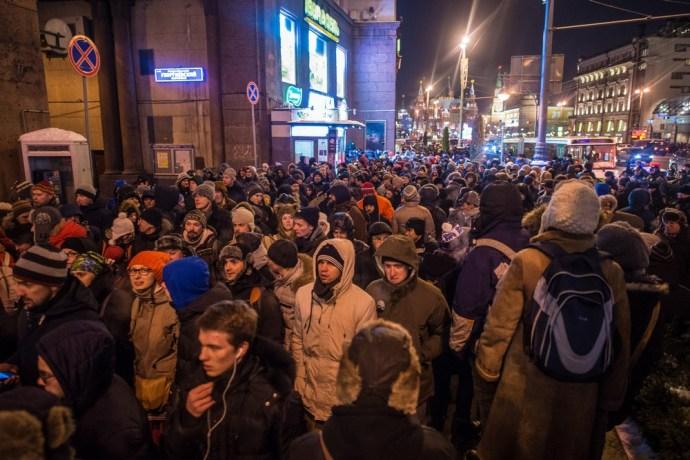 Több ezren tüntettek a moszkvai Vörös téren