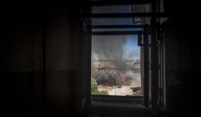 A biztonsági tisztek Tochka-U rakétákkal lőttek Luganszkra