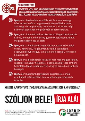 Interneten is aláírhatja a Jobbik kérdéseit