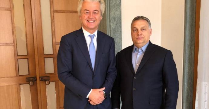 Orbán Viktor Geert Wildersszel találkozott