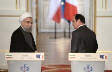 Kínos véget ért az iráni és a francia elnök közös ebéde