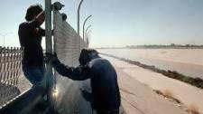 Két migránsgyereket dobtak le a hatméteres, határt védő falról – VIDEÓ