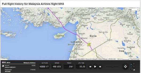 """""""Megoldotta"""" a biztonsági problémát a maláj légitársaság: Kelet-Ukrajna helyett mostantól Szíria fölött repülnek"""