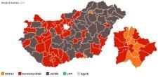 Az egyéni körzetek alapján a Jobbik a második erő