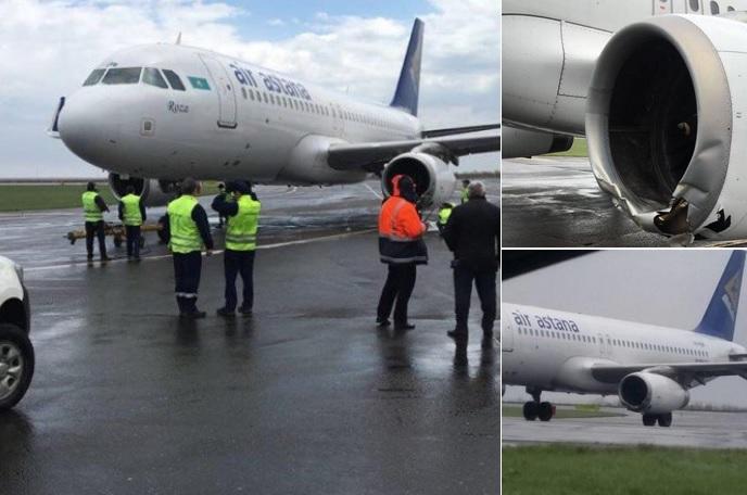 """VIDEÓ: """"Az ott mellettünk a leszállópálya"""" – rázósan landolt az Air Astana gépe"""