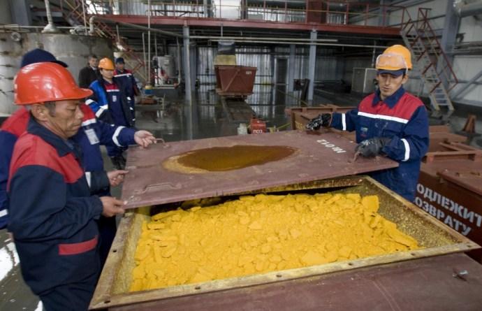 Dögkeselyűk a kazah uránbányák felett