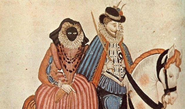 Megnémultak az arcukat a naptól védő, ijesztő maszktól a 16. században élt előkelő hölgyek
