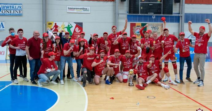 Klubtörténelmi bajnoki címet szerzett a komáromi röplabdacsapat